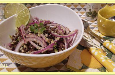 Salade de Lentilles et Courgettes au Citron vert