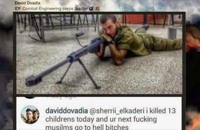 """Un sniper israélien : """"J'ai tué 13 enfants palestiniens aujourd'hui"""" (Press TV)"""