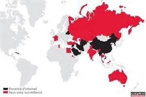 Carte mondiale de la cybercensure : la France en pole position selon RSF