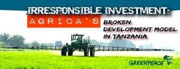 Les investissements du département d'aide du Royaume-Uni et de la société US Capricorn en Tanzanie entraîne l'expropriation de nombreux agriculteurs et leur appauvrissement