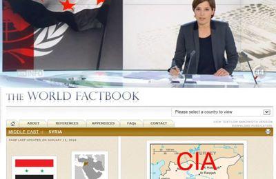 La RTS arbore le drapeau des « opposants » armés alors que l'Etat syrien est toujours en place (ASI)