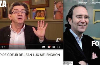 """Jean-Luc Mélenchon, VRP pour Spicee, le site """"anticonspi"""" du milliardaire Xavier Niel (Panamza)"""