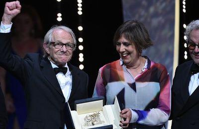 Ken Loach, Palme d'or à Cannes, dénonce les idées néo-libérales (AFP)