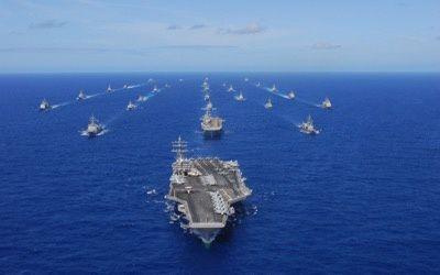 Deux porte-avions américains déployés dans des exercices de guerre dans l'ouest du Pacifique (WSWS)