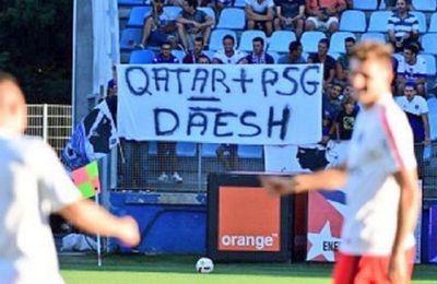 «Qatar + PSG = Daesh» : des supporters de Bastia remettent le couvert avec une nouvelle banderole (Russia Today)