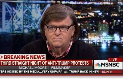 Michael Moore, après avoir appelé à voter pour Donald Trump, incite à présent la population à descendre dans la rue (Vidéos)