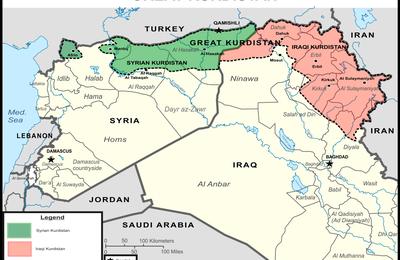 """L'Etat du """"Grand Kurdistan"""" sponsorisé par les Etats-Unis en passe d'être créé en Syrie et en Irak (Inside Syria Media Center)"""