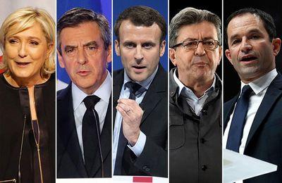 Election présidentielle française, J-10. Sondage Ifop : Le Pen (23.5%), Macron (22.5%), Mélenchon (19%), Fillon (19%), Hamon (8.5%)