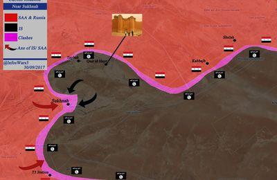 [Cartes] Vue d'ensemble de la bataille de Deir Ezzor au 30 septembre 2017 (Southfront)