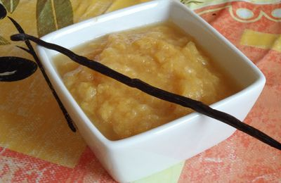 Compote pomme pêche