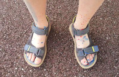 peinture ! chaussures ! éclaboussures !