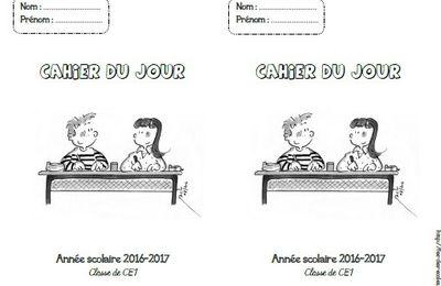 Page de garde : cahier du jour CP-CE1-CE2-CM1-CM2