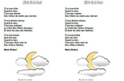 Rêve de la lune - Marie Botturi -CP-CE1-CE2-CM1-CM2