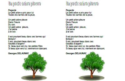 Un petit arbre pleure - George Delaunay - CE1-CE2-CM1-CM2