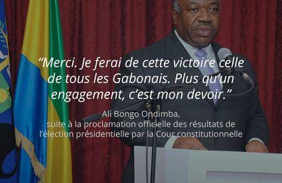 Première déclaration du Président Ali Bongo Ondimba