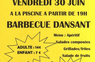 Barbecue dansant le 30 juin à la piscine de Marboué
