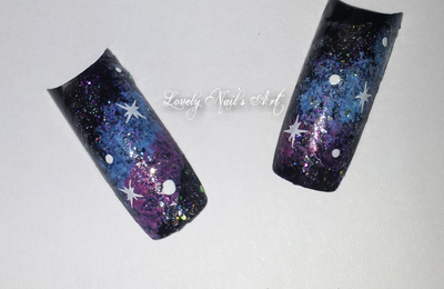 Nail art stamping * galaxie *
