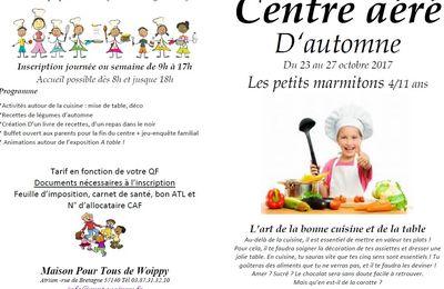 CENTRE AERE D'AUTOMNE - Les Petits Marmitons - 4/11 ans