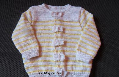 Cadeau de naissance : tricot et carte