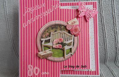 Carte anniversaire 80 ans femme