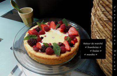 Tarte aux fruits rouges façon cheesecake