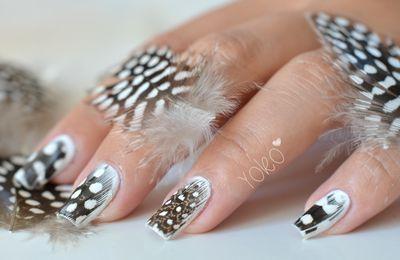 Nail art avec une plume