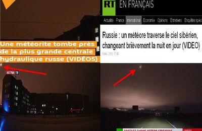 Une météorite tombe en fesant un bruit assourdissant près de la plus grande centrale hydraulique russe (video media)