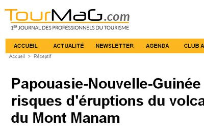 Papouasie-Nouvelle-Guinée : risques d'éruptions du volcan du Mont Manam