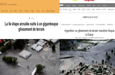 Argentine: un gigantesque glissement de terrain meurtrier bloque le Dakar (video media fr)