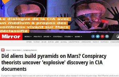 les archives de la CIA récemment déclassifiées , en 1984 grace à un médium la CIA ont appris quelles créatures Mars abritait il y a un million d'années...