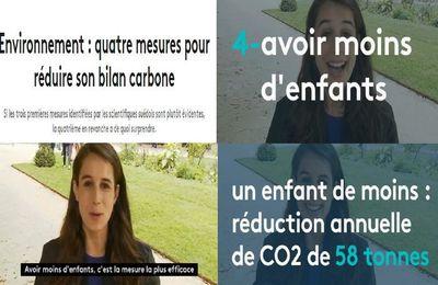 France 2 a trouvé la réponse au réchauffement climatique: ne faites plus d'enfants ne faites plus d'enfants ,ces ce que recommandent des scientifiques suédois (video media fr)