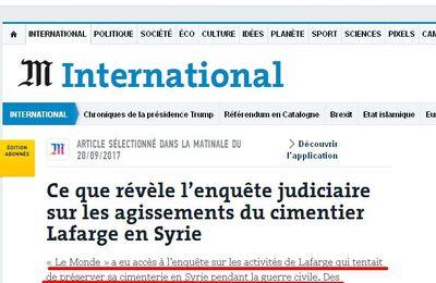L'entreprise Lafarge reconnaît avoir financé l'Etat islamique avec l'aval de la France
