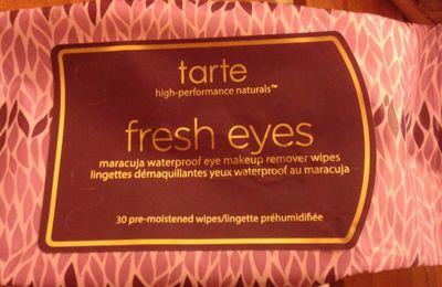 pressées? lingettes démaquillantes tarte cosmetics