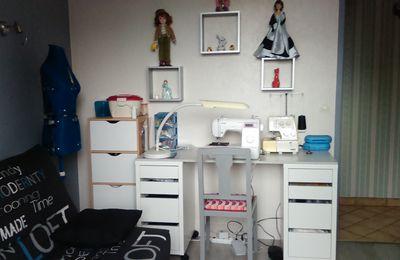 Mon espace couture et bureau