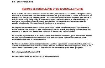 Le RNDP du Dr Aguid solidaire au peuple français