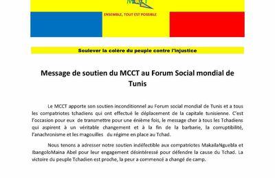 Message de soutien du MCCT au Forum Social mondial de Tunis