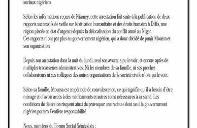 Affaire Moussa Tchangari: le Forum social Sénégalais se mobilise