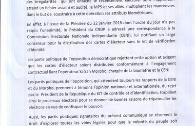 Présidentielle au Tchad: Idriss Deby a rejeté le Kit, l'opposition prend à témoin l'opinion africaine et internationale