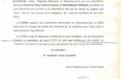 Société civile embastillée au Tchad: la mobilisation se poursuit