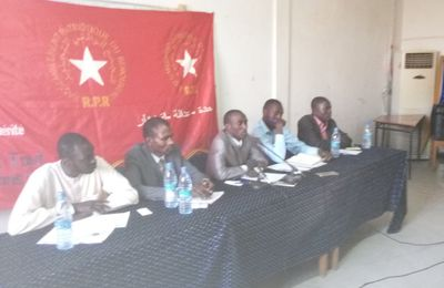 Déclaration du RPR après une conférence de presse à Ndjamén