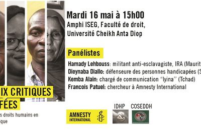 Dakar: Amnesty International invite la diaspora tchadienne à un panel