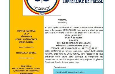 Paris: Dr Abakar Tollimi du CNRD face à la presse