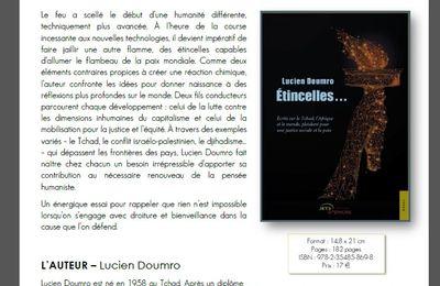 Etincelles - 2ème ouvrage de l'écrivain Lucien Doumro Tchadien (COMMUNIQUÉ DE PRESSE À DIFFUSION IMMÉDIATE)