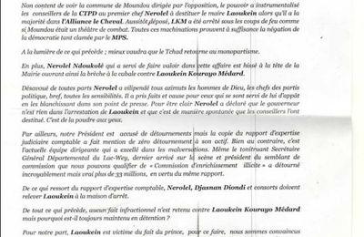 Tchad: la cellule de la CTPD de Yaoundé  dénonce l'acharnement du pouvoir à l'encontre de Laokein Médard