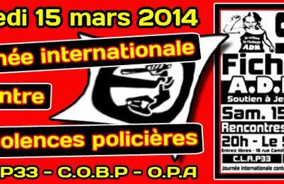 Bordeaux 15 mars - Journée internationale contre les violences policières