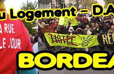 [Bordeaux - 9 avril] 5 militants du DAL33 devant les tribunaux