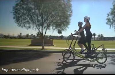 Salle de fitness en pleine nature : le vélo elliptique d'extérieur !
