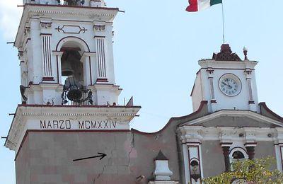 Dans l'état de Mexico de nombreux sanctuaires endommagés ou détruits par le dernier séisme