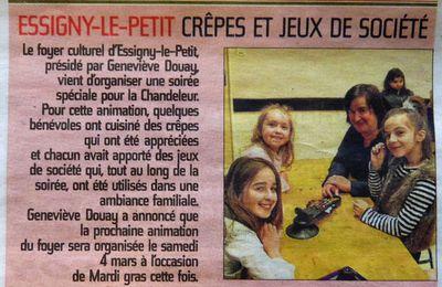 """La soirée """"crêpes et jeux"""""""