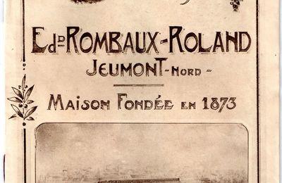 Catalogue Publicitaire de chez ROMBAUX-ROLAND (1922)